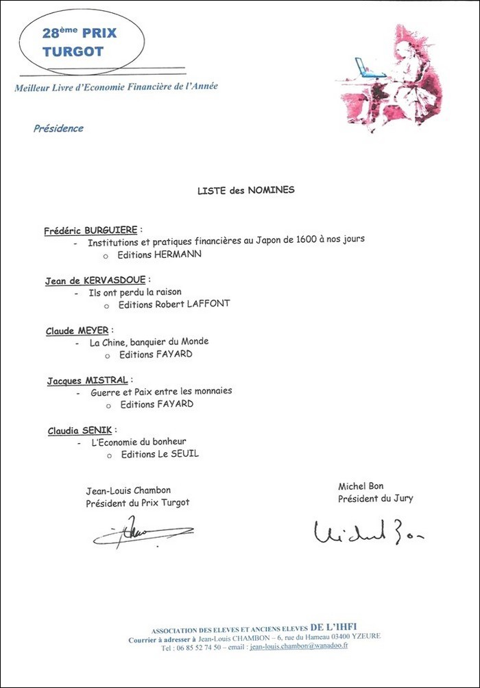 nomines prix turgot 2015