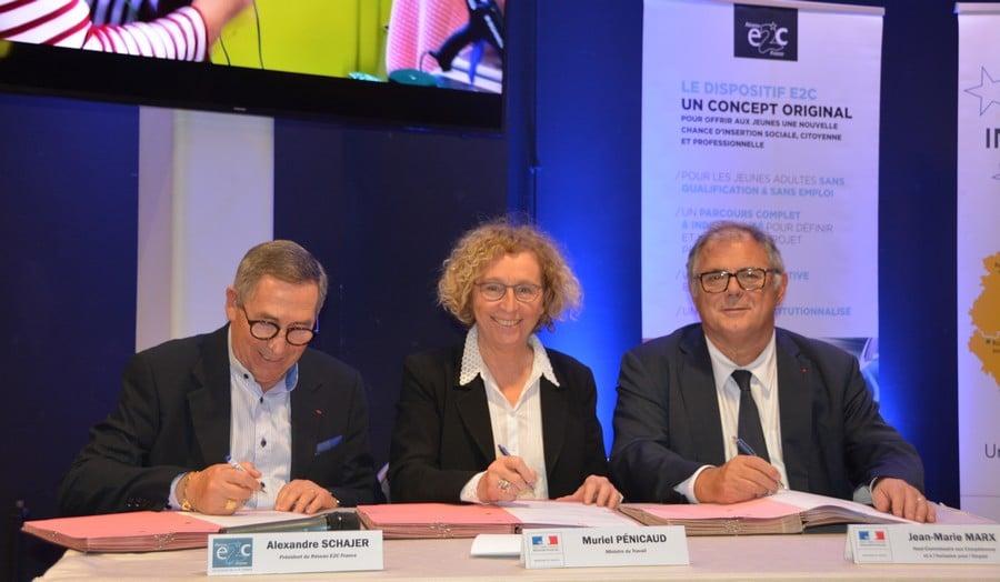 Signature de la convention de partenariat entre Reseau E2C et Etat
