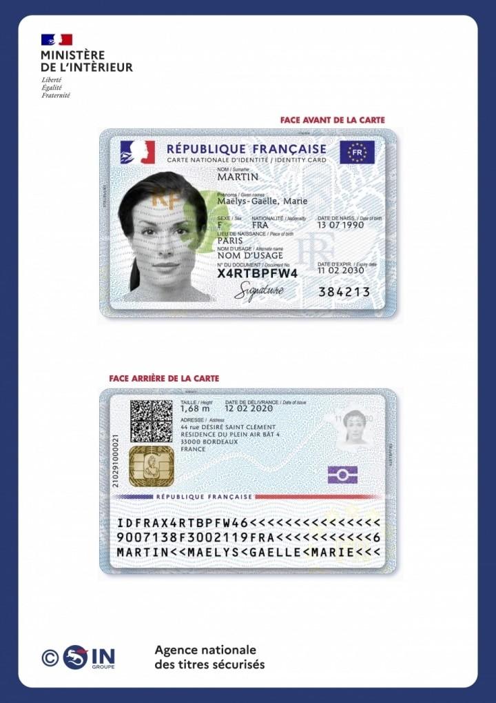 Nouvelle carte nationale d'identité
